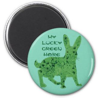 Lucky Green Hare | magnet