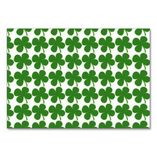 Lucky Green Shamrock Card
