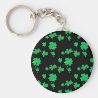 Lucky Green Shamrock Four Leaf Clover irish Keychains