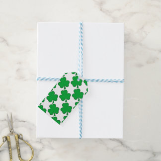 Lucky Green Shamrock Gift Tags