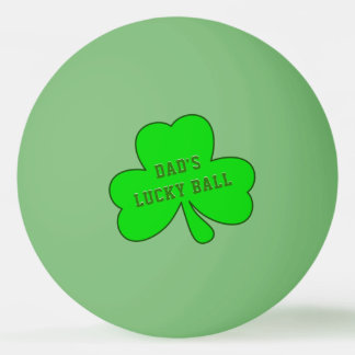 Lucky Green Shamrock Ping Pong Ball for Dads