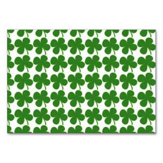 Lucky Green Shamrock Table Cards