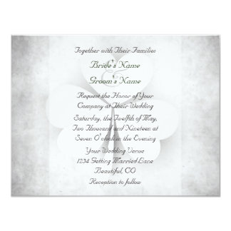 Lucky Heart Leaf Clover Irish Wedding Invitation