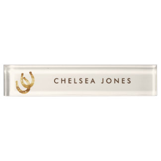 Lucky Horseshoes Personalized Nameplate