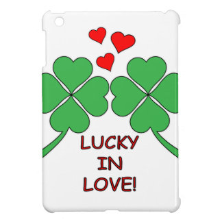 Lucky In Love Hearts Clover iPad Mini Cover