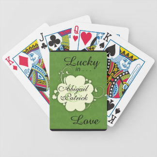 Lucky in Love Personalized Shamrock Design Cards