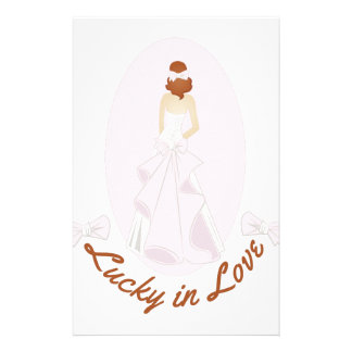 Lucky In Love Personalized Stationery
