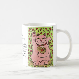 Lucky in Love: Pink Neko with Hearts Mugs