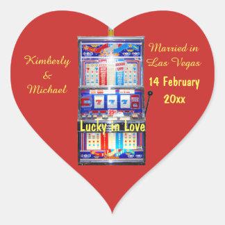 Lucky in Love Slot machine Heart Sticker