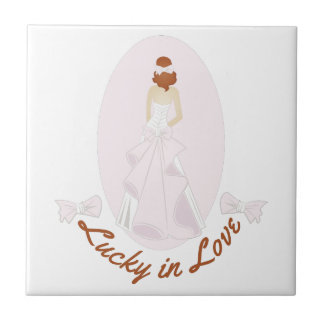 Lucky In Love Small Square Tile