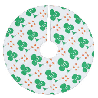 Lucky Irish 10 of Clubs, tony fernandes Brushed Polyester Tree Skirt