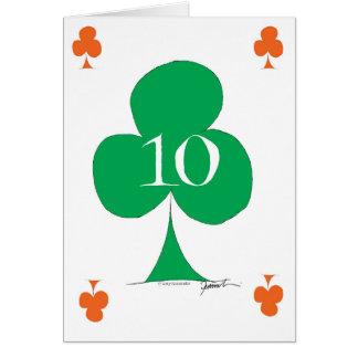 Lucky Irish 10 of Clubs, tony fernandes Card