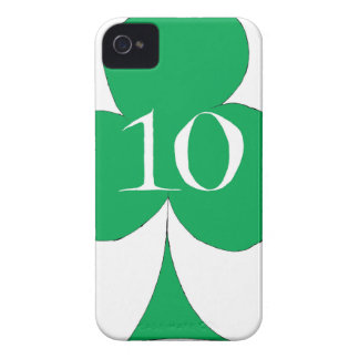 Lucky Irish 10 of Clubs, tony fernandes Case-Mate iPhone 4 Cases