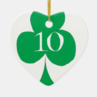 Lucky Irish 10 of Clubs, tony fernandes Ceramic Ornament