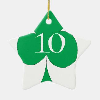 Lucky Irish 10 of Clubs, tony fernandes Ceramic Star Decoration