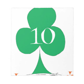 Lucky Irish 10 of Clubs, tony fernandes Notepads