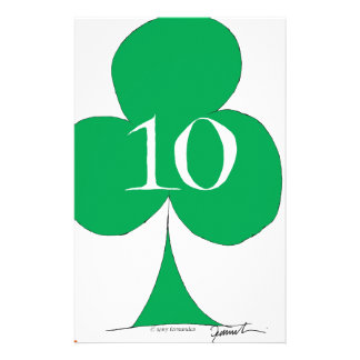 Lucky Irish 10 of Clubs, tony fernandes Personalised Stationery