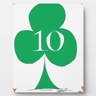 Lucky Irish 10 of Clubs, tony fernandes Plaque