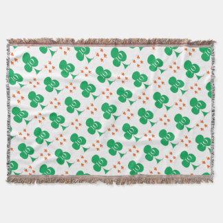 Lucky Irish 10 of Clubs, tony fernandes Throw Blanket