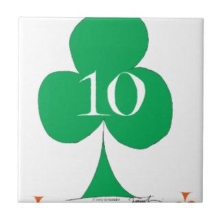 Lucky Irish 10 of Clubs, tony fernandes Tile