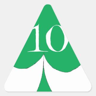 Lucky Irish 10 of Clubs, tony fernandes Triangle Sticker