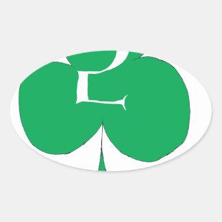 Lucky Irish 2 of Clubs, tony fernandes Oval Sticker