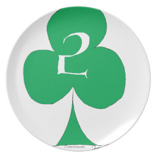 Lucky Irish 2 of Clubs, tony fernandes Plate
