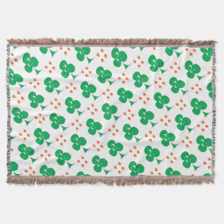 Lucky Irish 2 of Clubs, tony fernandes Throw Blanket