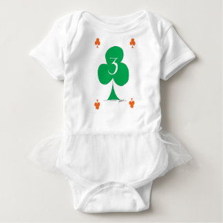 Lucky Irish 3 of Clubs, tony fernandes Baby Bodysuit