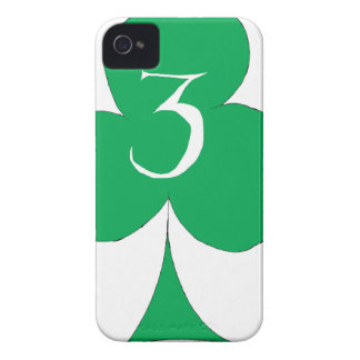 Lucky Irish 3 of Clubs, tony fernandes Case-Mate iPhone 4 Cases
