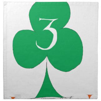Lucky Irish 3 of Clubs, tony fernandes Napkin