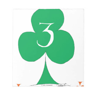 Lucky Irish 3 of Clubs, tony fernandes Notepads