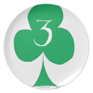 Lucky Irish 3 of Clubs, tony fernandes Plate