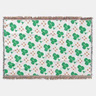 Lucky Irish 3 of Clubs, tony fernandes Throw Blanket