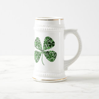 Lucky Irish 4-leaf Clover Beer Stein