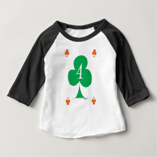Lucky Irish 4 of Clubs, tony fernandes Baby T-Shirt