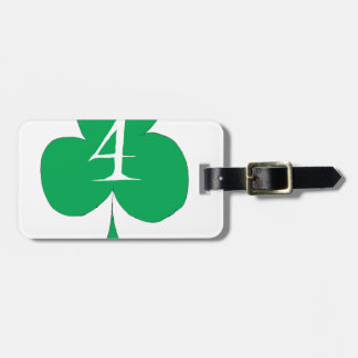 Lucky Irish 4 of Clubs, tony fernandes Luggage Tag
