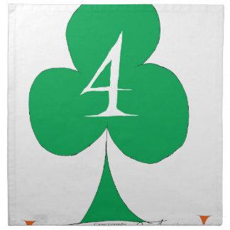 Lucky Irish 4 of Clubs, tony fernandes Napkin