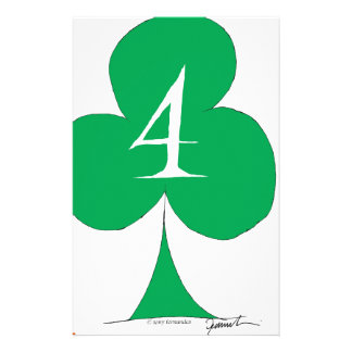 Lucky Irish 4 of Clubs, tony fernandes Stationery