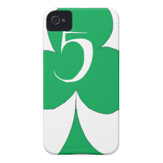 Lucky Irish 5 of Clubs, tony fernandes iPhone 4 Covers
