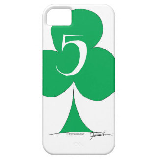 Lucky Irish 5 of Clubs, tony fernandes iPhone 5 Cases