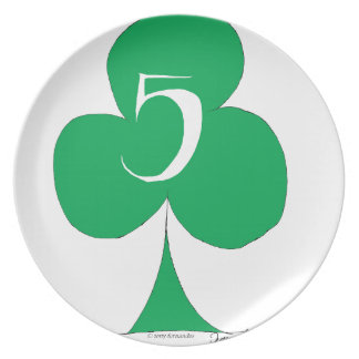 Lucky Irish 5 of Clubs, tony fernandes Plate