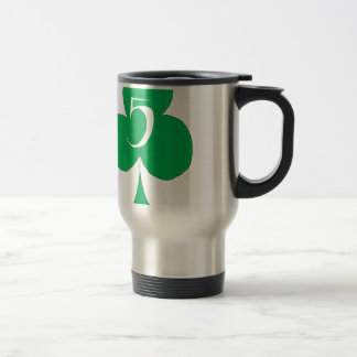 Lucky Irish 5 of Clubs, tony fernandes Travel Mug