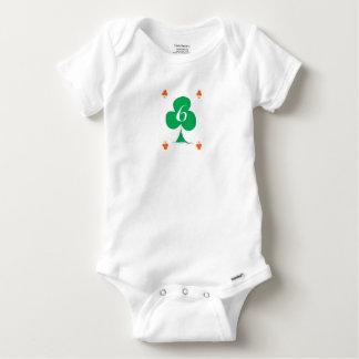 Lucky Irish 6 of Clubs, tony fernandes Baby Onesie