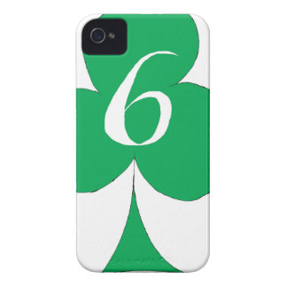 Lucky Irish 6 of Clubs, tony fernandes iPhone 4 Case-Mate Cases