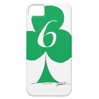Lucky Irish 6 of Clubs, tony fernandes iPhone 5 Covers