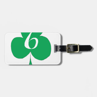 Lucky Irish 6 of Clubs, tony fernandes Luggage Tag