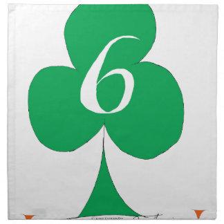 Lucky Irish 6 of Clubs, tony fernandes Napkin