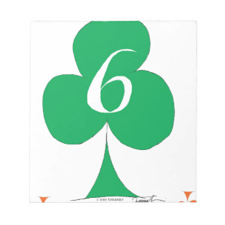 Lucky Irish 6 of Clubs, tony fernandes Notepads