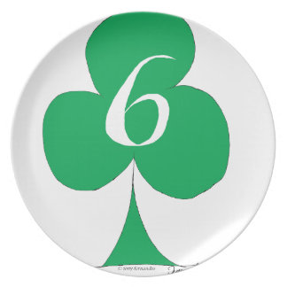 Lucky Irish 6 of Clubs, tony fernandes Plate